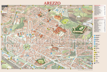 Here is an example of a map we used to get around Arezzo!